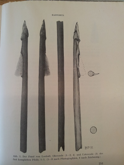 arrowheads from Lilla Loshults Mosse, Sweden. Malmer 1969