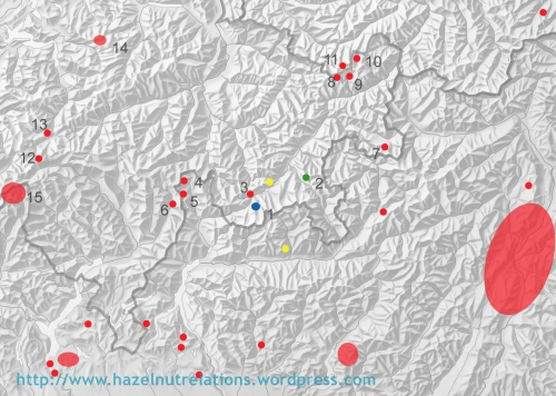 known Mesolithic sites in SE-Switzerland and most sites in neighbouring Italy.